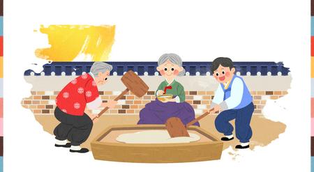 In Chuseok Zeit mit der Familie verbringen. Standard-Bild - 92769967