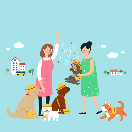 Living with a pet stock illustration Vettoriali