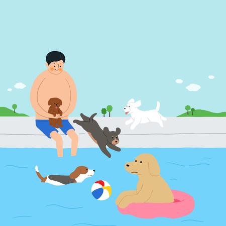 Leven met een huisdier stock illustratie Stock Illustratie