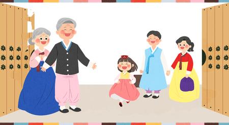 In Chuseok Zeit mit der Familie verbringen. Standard-Bild - 92769413