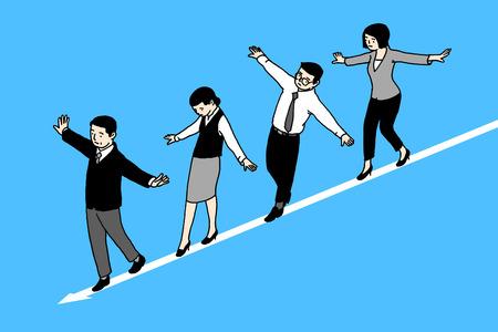express working life and human emotions, RF illustration 006 Illustration