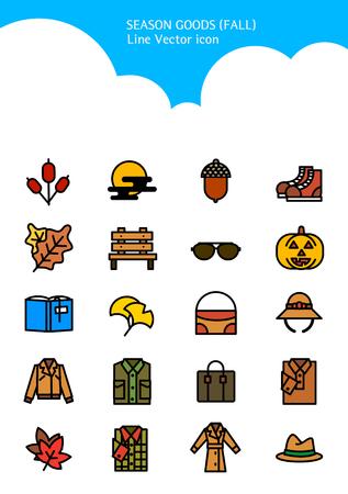 Set of Icon - Symbolizing summer and autumn