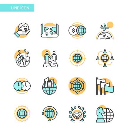 Line Icon set- business, financial, map etc. 010