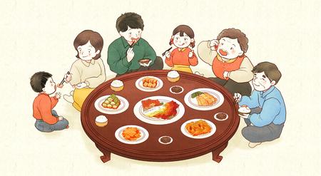 김장 김치, 겨울 김치 009 일러스트