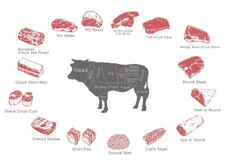 information of meat parts, RF illustration 001