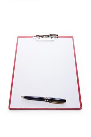 Een zwart papier houder geïsoleerd op een witte achtergrond
