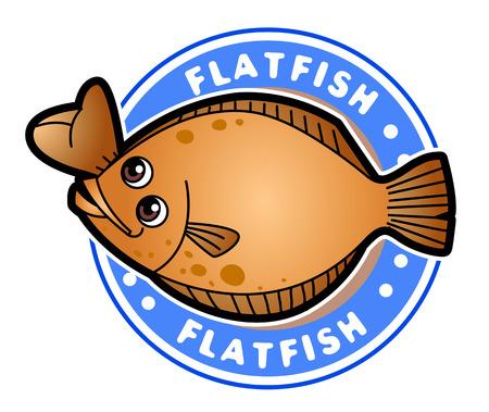 벡터 일러스트 레이 션의 동물 설정 만화 흰색 배경에 고립입니다. 해양, 물고기 일러스트