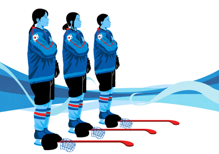 illustration of member of the national team for winter sports, medalists and athlete Illustration