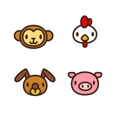 Chinese zodiac illustration
