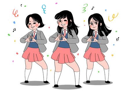 cartoon of students, celebrate last day at school Illustration