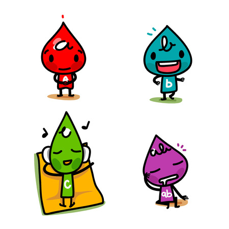 character of blood type illustration 026