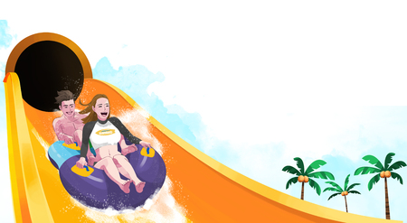 Ways to enjoy at the water park, water slide