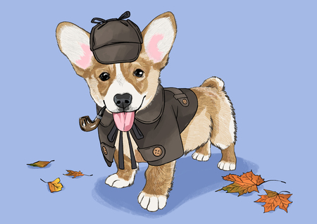 illustration of Pet - cute bulldog, Chihuahua, poodle, Maltese