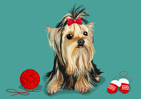 illustration of Pet - cute dog