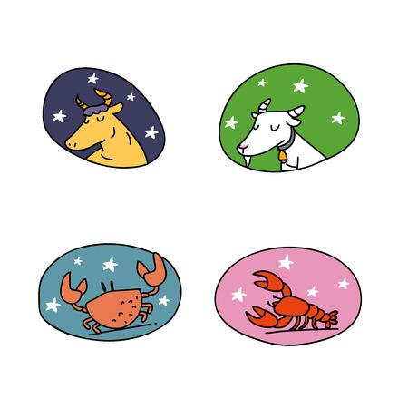 character of the constellation illustration Ilustracja