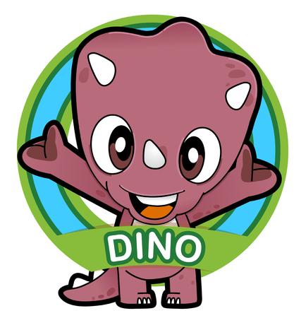 Vector illustration of Animals set Cartoon isolated on white background. Dinosaur 일러스트