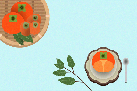 Korean traditional refreshments Illustration