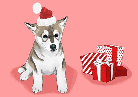 illustration of Pet - cute dog