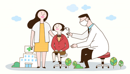 A medical treatment to a healthy society, a girl went to see an ENT doctor with mother