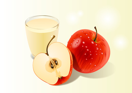 Fruit objects - Red apples and a juice made apple 002