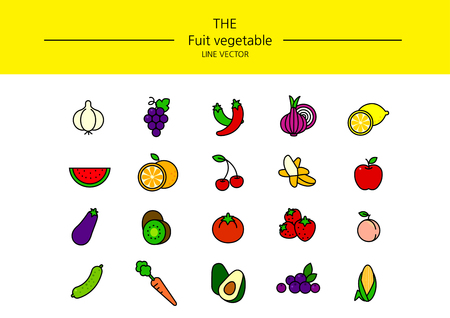 Line icon set vector white background, fruit vegetable 002Line icon set vector white background, fruit vegetable 002Line icon set vector white background, fruit vegetable 002