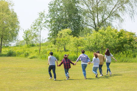 Group Harmony Concept Photo - Teamwork and Friendship Togetherness Happiness Concept. 116