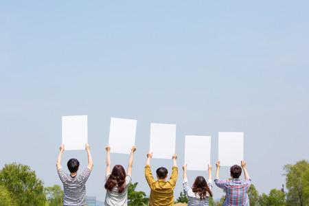 Photo de concept d'harmonie de groupe - Concept de bonheur de travail d'équipe et d'amitié. 189 Banque d'images - 94774813