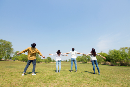 Group Harmony Concept Photo - Teamwork and Friendship Togetherness Happiness Concept. 148 Stock Photo