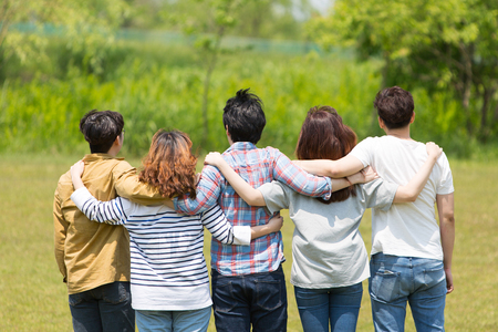 Group Harmony Concept Photo - Teamwork and Friendship Togetherness Happiness Concept. 005 Stock Photo