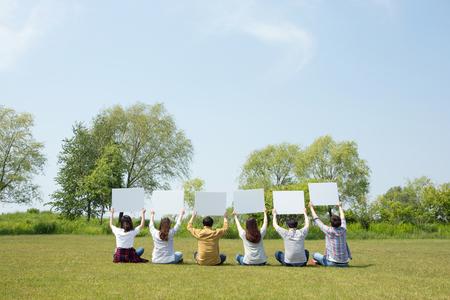 Photo de concept d'harmonie de groupe - Concept de bonheur de travail d'équipe et d'amitié. 196 Banque d'images - 94878240