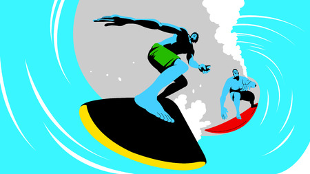 Vector - Dynamic sports, surfing 009.