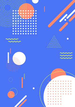 Colorful abstract background - Geometric pattern with blue background Vector illustration.