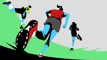 Zdjęcie Seryjne - Dynamiczne sporty, bieganie 010. Ilustracje wektorowe