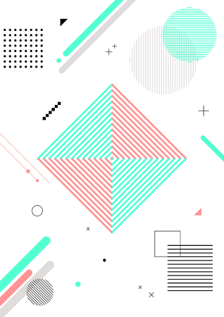 Colorful abstract background - Geometric pattern with white background Vector illustration.