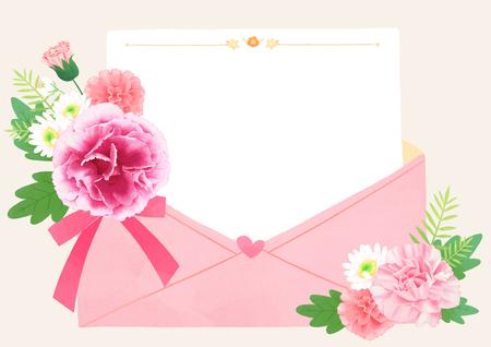 Vector IllustratieStockfoto - Bloemen frame vector geïsoleerd op een witte achtergrond. Lege ruimte voor uw tekst.
