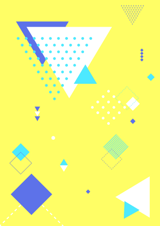 Colorful abstract background - Geometric pattern with yellow background Vector illustration. Illustration