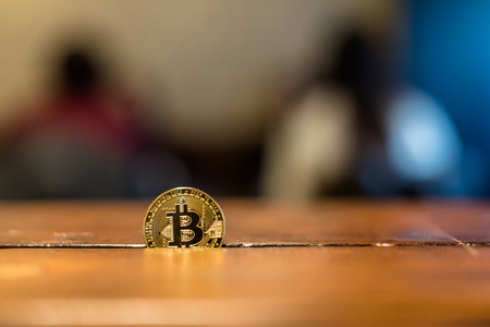 Virtual luxury, Encrypted money , Bitcoin, money, Virtual money Stock Photo