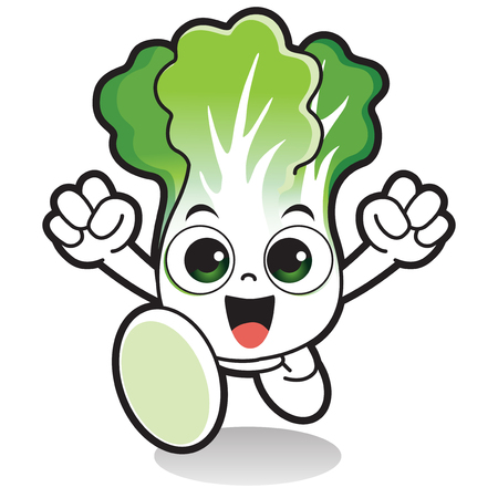 Vector - Cute vegetable cartoon characters isolated in white. 014
