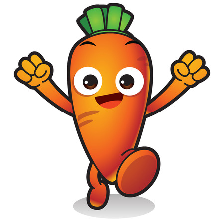 Vector - Cute vegetable cartoon characters isolated in white. 023