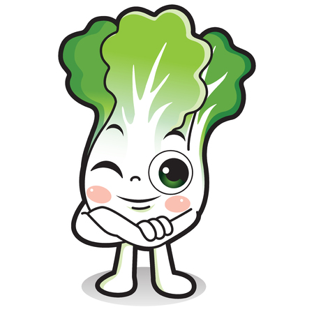 Vector - Cute vegetable cartoon characters isolated in white. 015