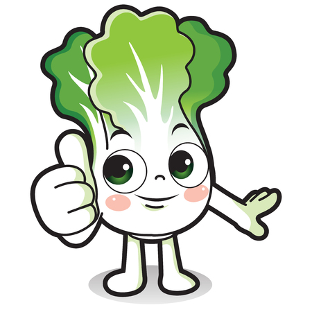 Vector - Cute vegetable cartoon characters isolated in white. 013