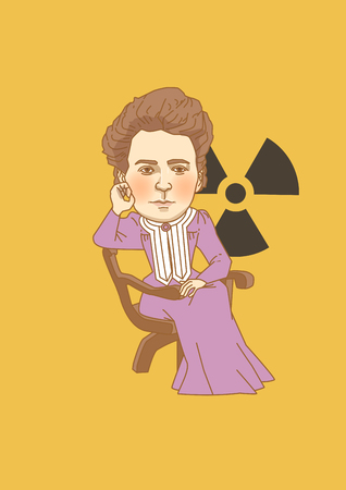 Vector - The great men in history. Famous historical figures caricature isolated in white. 095