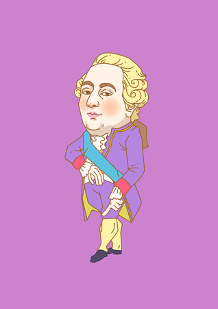 Vector - The great men in history. Famous historical figures caricature isolated in white. 109
