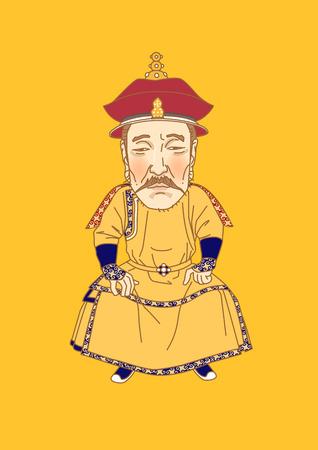 Vektor - Die großen Männer in der Geschichte. Karikatur berühmter historischer Figuren lokalisiert in Weiß. 122