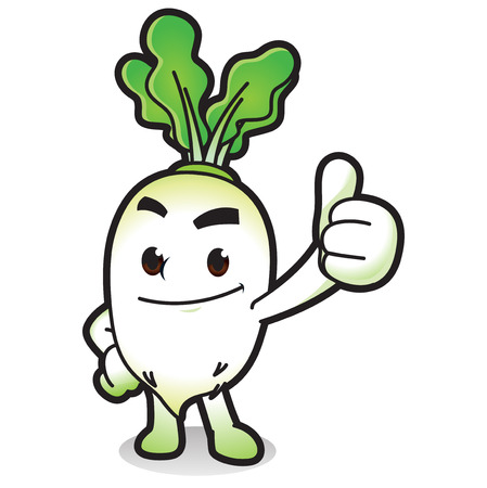 Vector - Cute vegetable cartoon characters isolated in white. 009