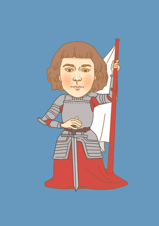 Vector - The great men in history. Famous historical figures caricature isolated in white. 093
