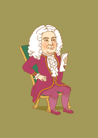 Vector - The great men in history. Famous historical figures caricature isolated in white. 090