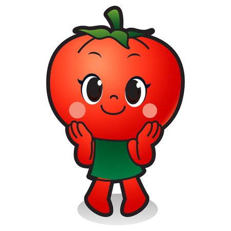 Vector - Cute vegetable cartoon characters isolated in white. 037 Illustration