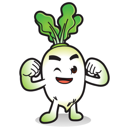 Vector - Cute vegetable cartoon characters isolated in white. 011 Illustration