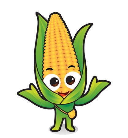 Vector - Cute vegetable cartoon characters isolated in white. 030  イラスト・ベクター素材